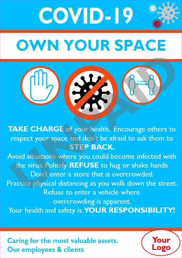 Covid-19 info Poster - Own your space