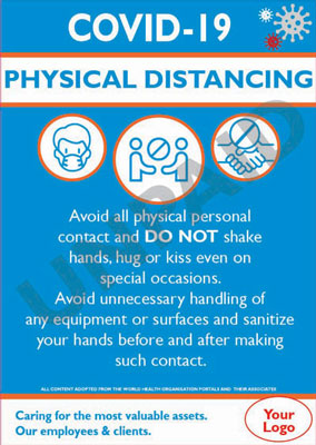 Covid-19 Info Poster - Physical Distancing
