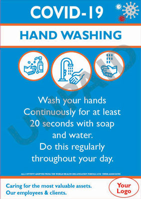 Covid-19 Hand Washing Guide Poster