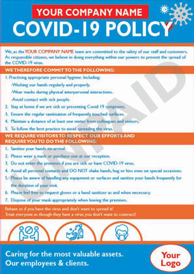 Covid-19 Company Policy Posters